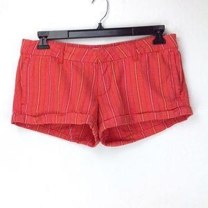 Orange/coral striped shorts